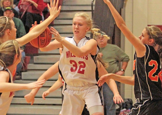 Lindsay Reynolds scored 18 points to lead Schroon Lake to a 46-31 win against Johnsburg in Mountain and Valley Athletic Conference girls basketball action Feb. 6.