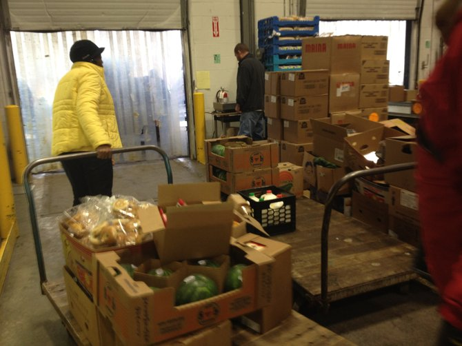 Food pantries and other agencies throughout Albany County  (and beyond) pick-up food from the Regional Food Bank of Northeastern New York in Latham.