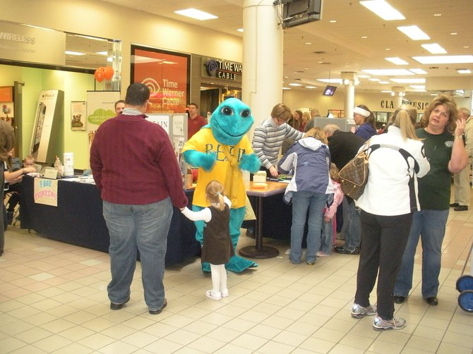 Clifton Park Library's mascot 'Tadpole' will be on hand to greetthe crowd.