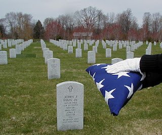 Each flag is folded 12 times, each fold a tribute.