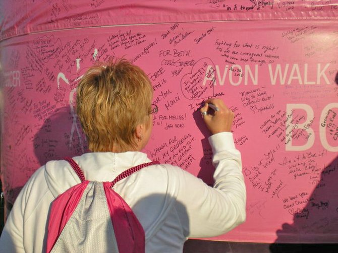 Lori Ross of Hague will participate in the Avon Walk Fort Breast Cancer in Washington, D.C., May 5 and 6. It's a 39-mile trek  around the city. This will be her third time taking part in the walk.