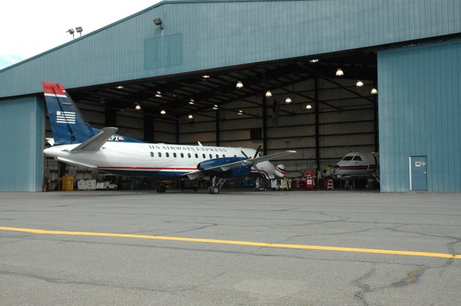 The aircraft maintenance hangar will undergo renovations and double in size.