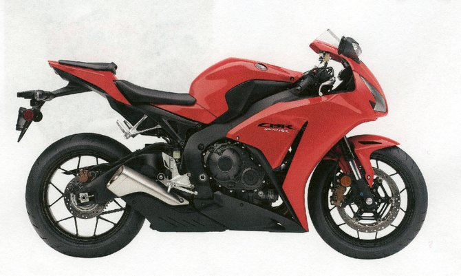 A motorcycle similar to this was one of seven stolen from Albany Honda.