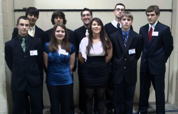 Members of the Elizabethtown-Lewis Central School Model U.N. program that went to Harvard recently.