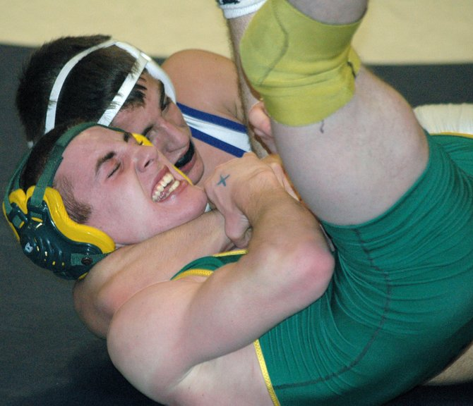 Jacob Goddeau earned his fifth Section VII title by beating Kaleb Sample Feb. 11.