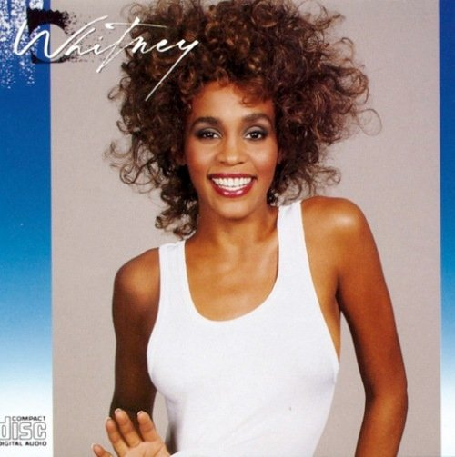 Whitney Houston as she appeared in 1987 on the cover of her self-titled LP. A few months before the disc was released she appeared at the State Fair Grandstand in Geddes, thoroughly entertaining the fair's largest-ever concert crowd. Our columnist was there.