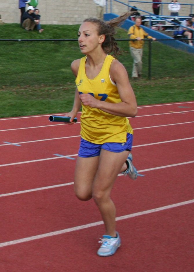 Cazenovia senior captain Jill Vogl was a leader for the Lady Lakers at the CNY Select Meet on Feb. 7, winning the 300-meter dash, scoring in the 55 and leading off the Lakers' 4x200-meter relay. Vogl is ranked second in the 300 event, among all athletes in Section III.