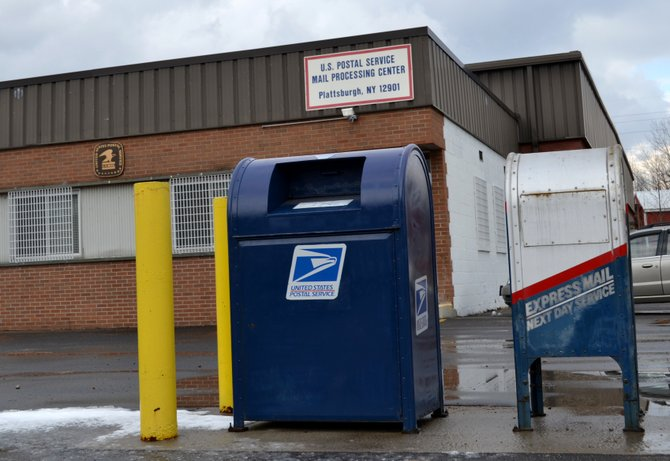 The mail processing center in Plattsburgh will be closed and its operations moved to Albany. The center isn't alone as 232 other centers nationwide will be consolidated wholly or partially, according to a United State Postal Service release Feb. 23.
