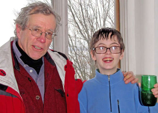 Peter Hartwell and mentor David Thomas Train are winners in the Champlain Area Trails Travel Writing Contest. Hartwell attends the Champlain Valley Educational Services Special Education program in Mineville.