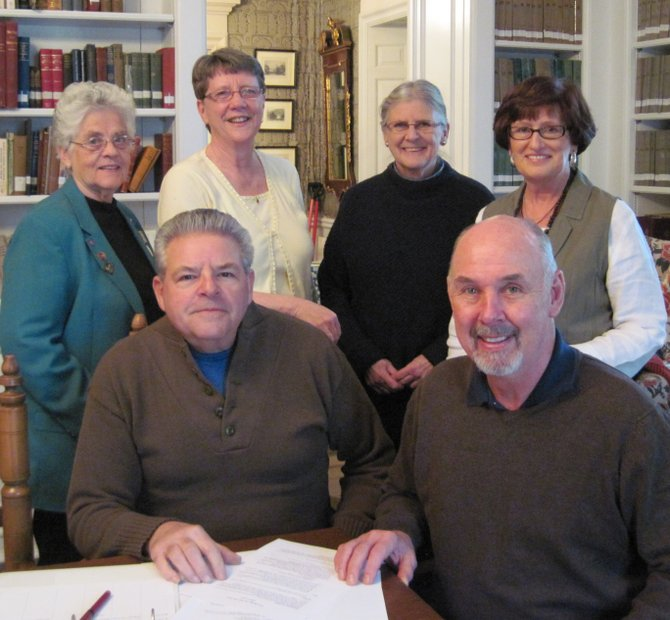 The Ticonderoga First 250 Years Committee is seeking a logo to represent the commemoration of the 250th anniversary of the settlement of Ticonderoga. The committee includes, front, co-chairs Bill Dolback and Steve Boyce; back, Sandra Trepanier, Sylvia Boyce, Gayle Gallant and June Curtis.