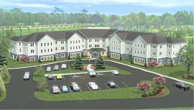 An artist's rendering shows a possible design for Baptist Health's new 67-unit assisted living facility in Glenville.