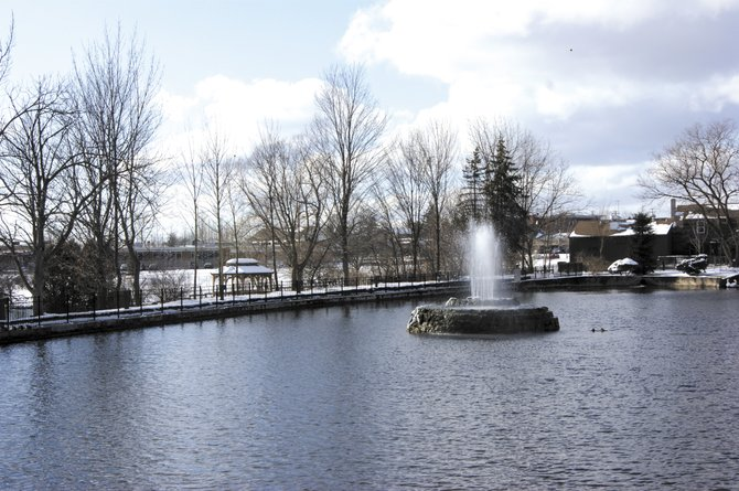 Renovations to the Swan Pond in Manlius are planned to begin this spring. 