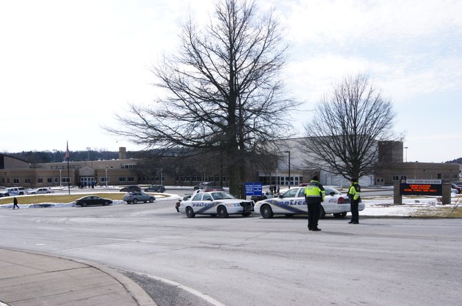 Police blocked off West Genesee High School after a bomb threat was reported to the district.