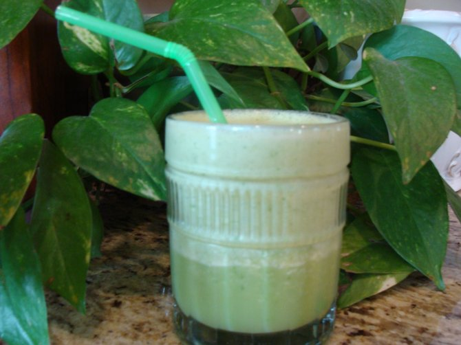 The Tropical Slush shown here gets its beautiful green color from  shhhhhh!  