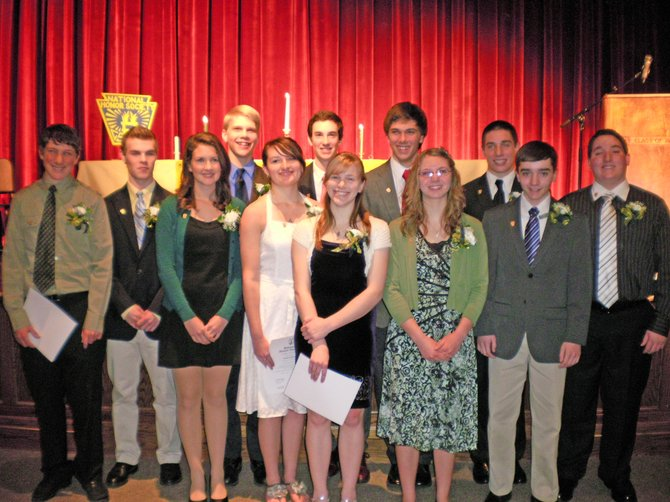 A dozen new inductees joined the Schroon Lake Central School National Honor Society chapter March 5. New members are Brandi Busick, Jessica Grey, Mitchell Beers, Jonathan Kowalka, Daniel Maisonville, Clare Whitney, Samuel Foote, Justin Lough, Ian Lowe, Caleb Maisonville, Robert Rose and Abigail Wisser.