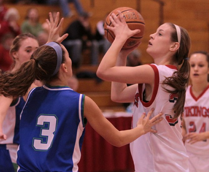Hayley Waldron, who led Moriah in scoring this season, was held to two points as the Vikings lost to Hoosic Valley, 71-20, in the opening round of the New York State Public High School Athletic Association girls Class C tournament.