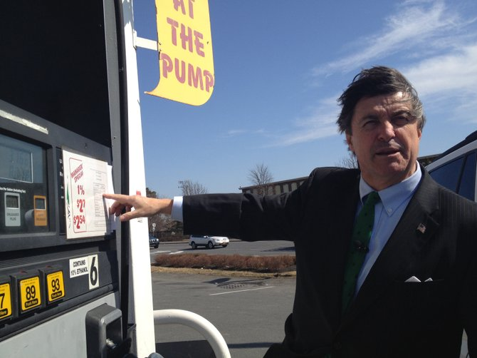 Comptroller Michael Conners wants gas taxes to be posted at the pump.