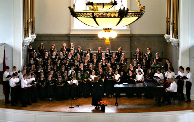 The Capital District Youth Chorale  performs at the 2010 Voices for Hope Children&#39;s Benefit Concert.