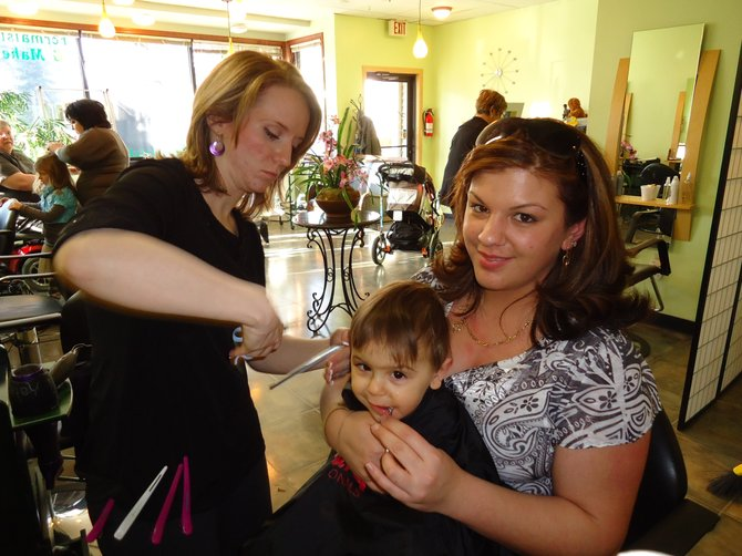 CJ, 2, got his first haircut at last year's Cuts For A Cause event to raise money for The Cystic Fibrosis Foundation.