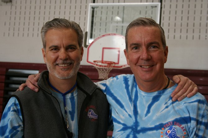 Brothers Anthony (left) and Lawrence Hynes, started the Fast Break Fund in 1995 to provide sports summer camps for lower income children.