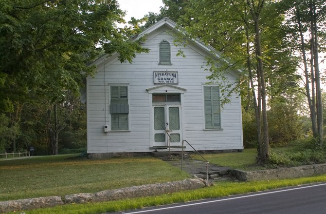The front of the former Niskayuna Grange Hall as it seen in August 2010. The town is moving forward with renovations plans for ECOS to move into the historic building.