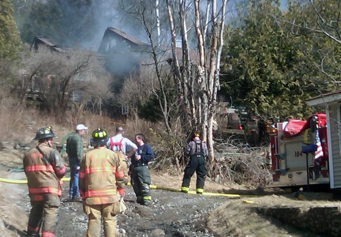 Four fire departments were on-scene at a Keene house fire March 13 on Route 9N.