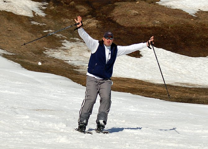 Bill Constant, of Albany, enjoys skiing at Gore Mountain in North Creek Thursday, March 22, the last day of the season.