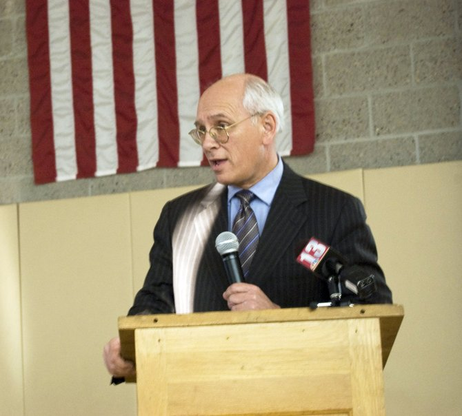 Congressman Paul Tonko stressed the importance of preparing for floods during a public forum at Jefferson Elementary School on Wednesday, March 14.
