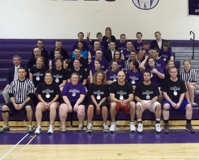 The 12th annual Ticonderoga High School senior-faculty basketball game was held recently. The faculty won the game and bragging rights for another year.