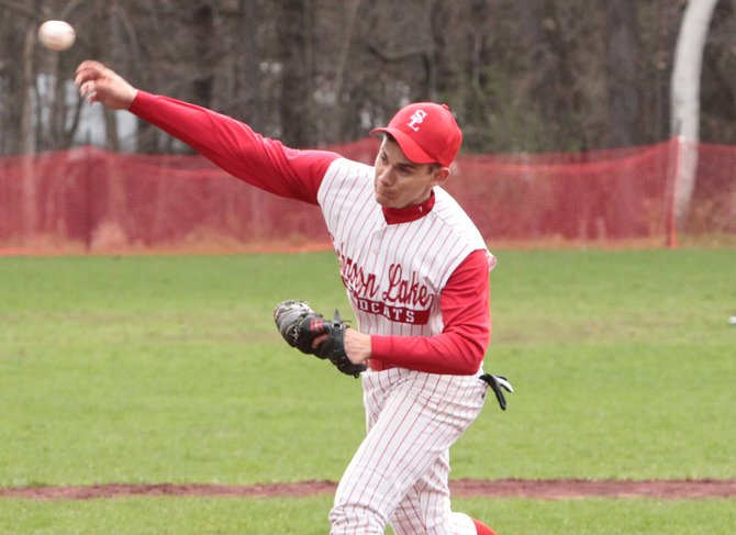 Matt Savarie took the loss for Schroon Lake in an 18-3 setback to Ticonderoga April 3.