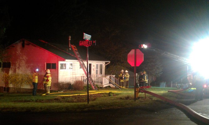 At least eight fire departments responded to this house fire in Manlius Monday night.