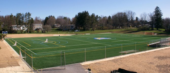 "The new turf field at Cazenovia College was recently named ""Christakos Field"" in honor of the late Nicholas J. Christakos, a college trustee emeritus and successful businessman from Cazenovia."