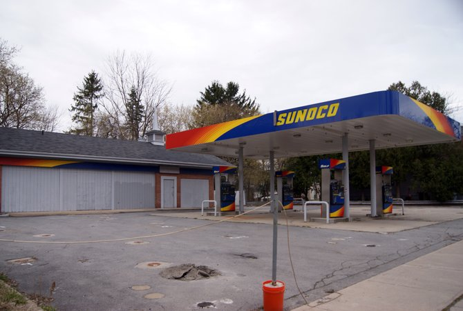 This is the site of the proposed new Sunoco station in the village of Camillus.