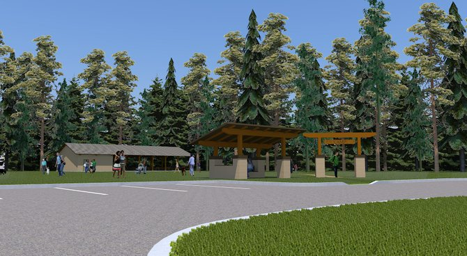 A rendering of the pavilion to be built this spring at the Bethlehem YMCA on Delaware Avenue.