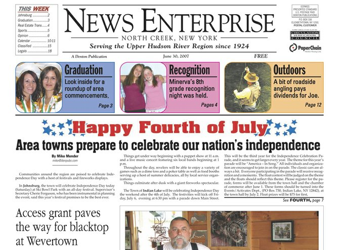 Back issue of the News Enterprise