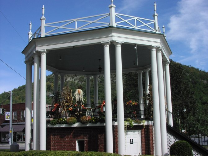 Warrensburg's Floyd Bennett Memorial Bandstand is decaying, and town officials want to see it renovated. The town board voted June 13 to authorize application for a $270,00 state historical preservation grant to restore it. The regional landmark was constructed in the 1920s to honor Bennett, an aviator born in Warrensburg who piloted Richard E. Byrd on his attempt to reach the North Pole in 1926.