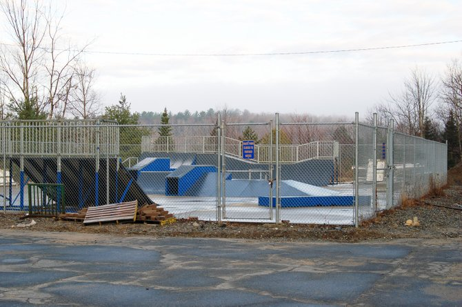The North Elba town skatepark.
