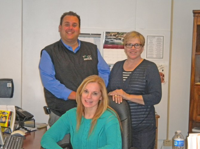 The Ticonderoga Area Chamber of Commerce has an intern, Amy LaVare, from the NCCC Ticonderoga campus this spring. Joining her are Matthew Courtright, chamber executive director, and Jane Carpenter, NCCC business professor.