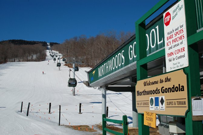 Northwoods Gondola, Gore Mountain ski center, North Creek
