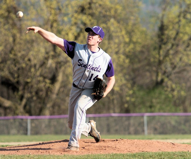 Tanner Wright helped Ticonderoga beat Saranac Lake, 12-11, in Champlain Valley Athletic Conference baseball action April 25. Wright was the starting pitcher, but did not get a decision.