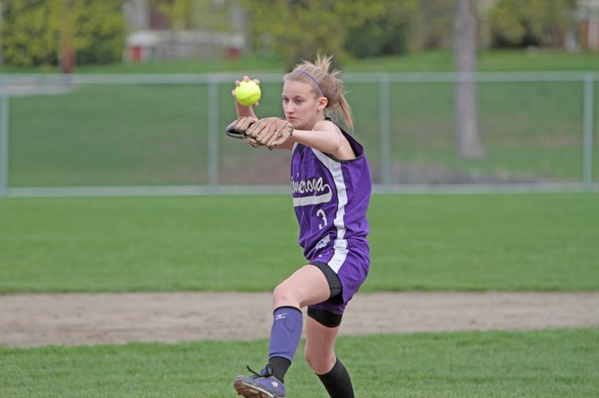 Ticonderoga came from behind to beat Moriah, 9-2, in Champlain Valley Athletic Conference softball action April 28. Jordan McKee led the Sentinels at the plate and on the mound.