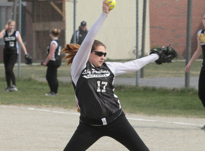 Winning pitcher Alexandra Macey had three hits and three RBI as Crown Point blasted Elizabethtown-Lewis, 32-3, in Mountain and Valley Athletic Conference softball action May 1.