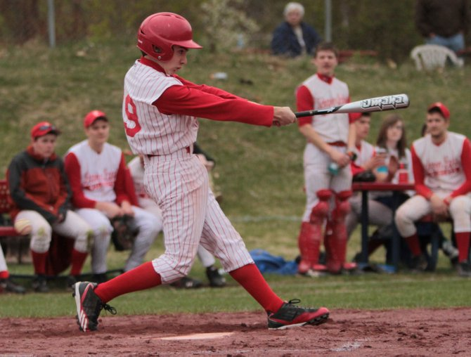 Justin Lough helped Schroon Lake edge Wells, 5-4, in Mountain and Valley Athletic Conference baseball play May 4.