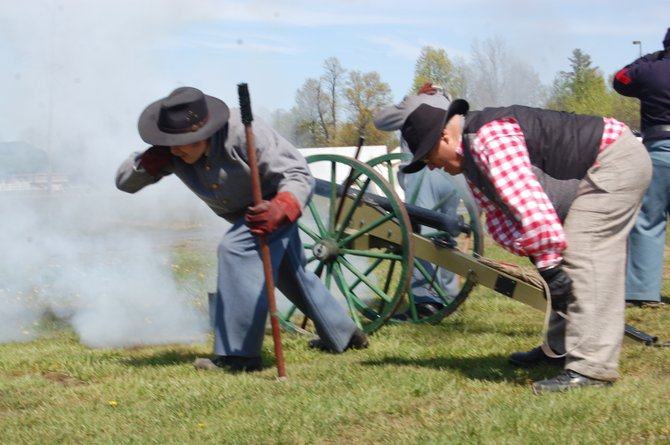 Re-enactors brought the American Civil War to life in Beekmantown recently.