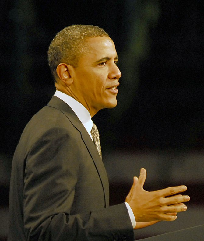 President Barack Obama visited the College of Nanoscale Science and Engineering in Albany on Tuesday, May 8.
