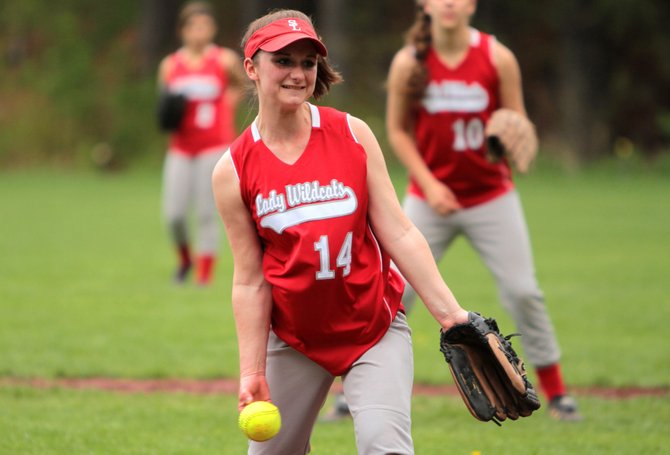 Kiana Fiore delivers a pitch for Schroon Lake in Mountain and Valley Athletic Conference action against Westport May 8. Westport won in the final inning, 13-11.