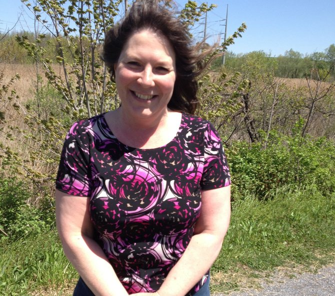Laura Mattice, of Camillus, was happy to talk about being a mom.