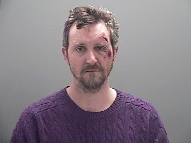 Eagle Dunsmore of Elizabethtown, arrested in Plattsburgh for multiple charges stemming from a high speed chase.