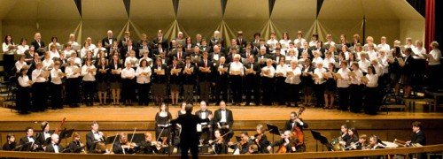 The Burnt Hills Oratorio Society has over 100 singers ranging from teens to those in their eighties. 