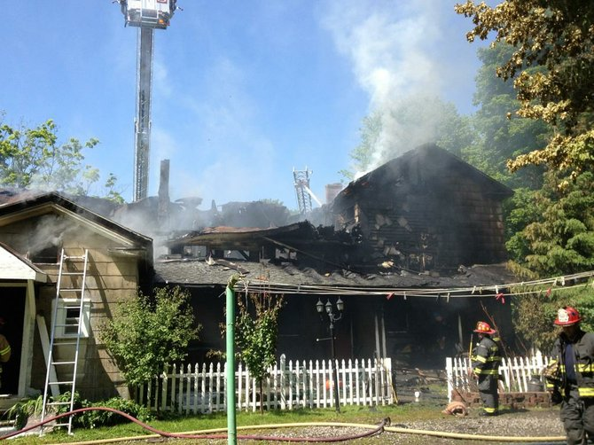 A fire on Fikes Road in Elbridge brought firefighters from 20 departments out.